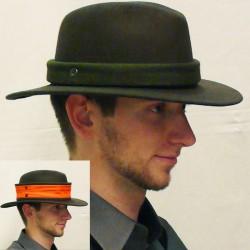 Myslivecký klobouk zelený reflexní páska Mes 85088