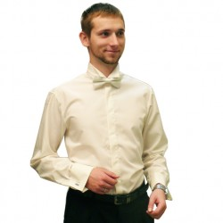 Frakovka pánská košile 100 % bavlna non iron šampaň Assante 30208