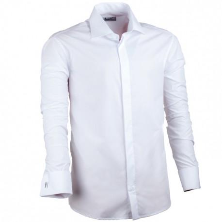 Bílá nadměrná pánská košile rovná Assante 31012