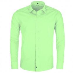 Prodloužená pánská košile zelená Friends and Rebels 20505
