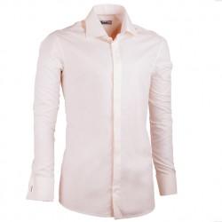 Pánská košile šampaň prodloužená slim fit non iron Assante 20207