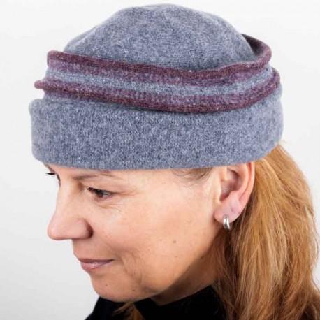 Šedá dámská elegantní čepice Tonak 87312