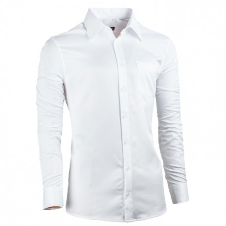 Bílá pánská košile Assante vypasovaná 30017