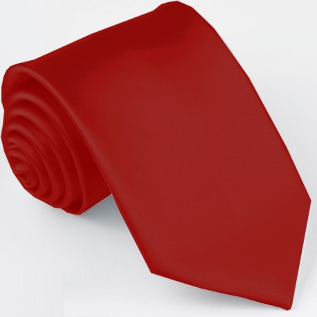 Pánská červená jednobarevná kravata Greg 99966