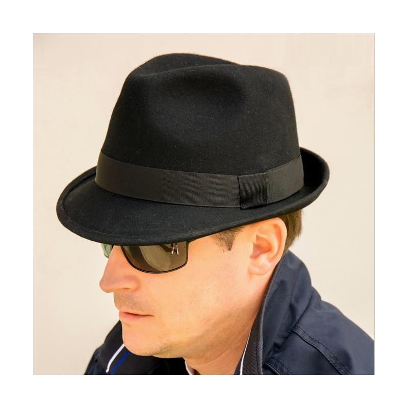 57b338bbcfd Černý pánský klobouk Assante 85010
