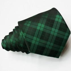 Pánská zelená kravata károvaná Greg 95013