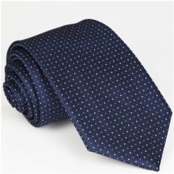 Modrá pánská kravata tmavě modrá se vzorečkem Rene Chagal 94075