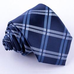Modrá pánská kravata klasická společenská Greg 94108