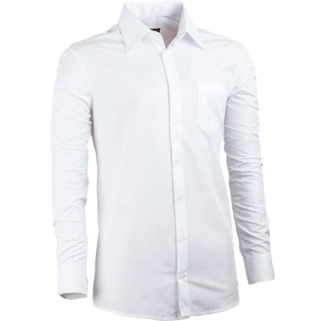 Košile prodloužená délka slim fit bílá Assante 20010
