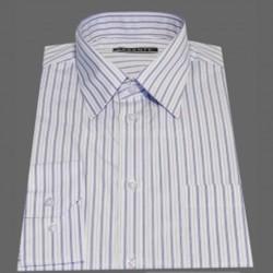 Prodloužená pánská košile bílá modrý pruh Assante 20616 7d8ac721db