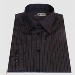 399f0eab918 Prodloužená pánská košile šedo fialová Assante 20613