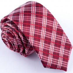 Slim fit červená kravata Greg 99310