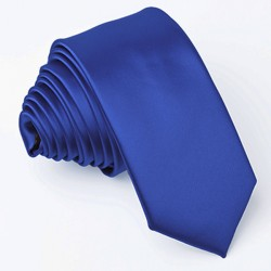 Pařížská modrá slim fit kravata Greg 99145