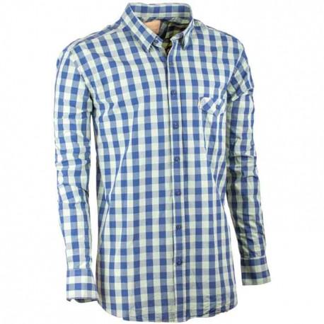 Zelená pánská košile dlouhý rukáv 100 % bavlna Tonelli 110903