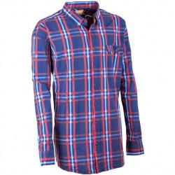 Modročevená nadměrná pánská košile dlouhý rukáv 100 % bavlna Tonelli 110906