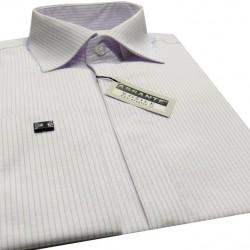 Prodloužená pánská košile bílá na manžetový knofliček Assante 20617 c2557d2e92