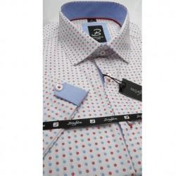 Bílá pánská košile krátký rukáv vypasovaný střih Brighton 110053 96e88b1365