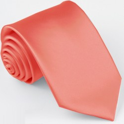 Korálová slim fit kravata Greg 99172