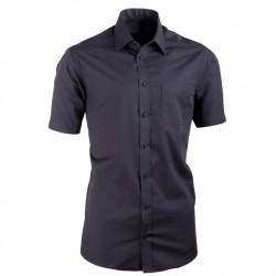 Černá pánské košile nadměrná velikost krátký rukáv Tonelli 110811