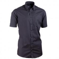Košile Aramgad s knoflíčky v límečku vypasovaná černá 40135