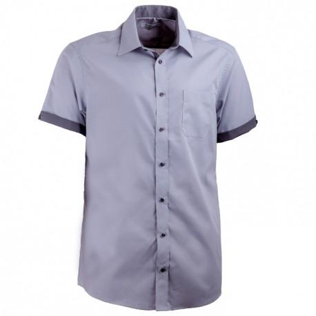 Šedá košile Aramgad rovná kombinovaná 40140