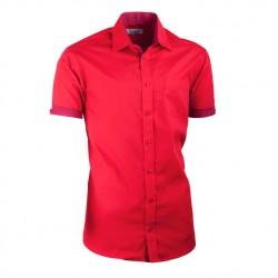 Červená košile Aramgad slim fit kombinovaná 40336