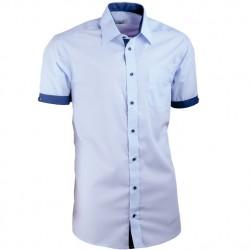 Košile modrá Aramgad slim fit kombinovaná 40338