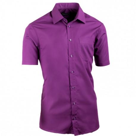 Fialová pánská košile Assante vypasovaná 40338
