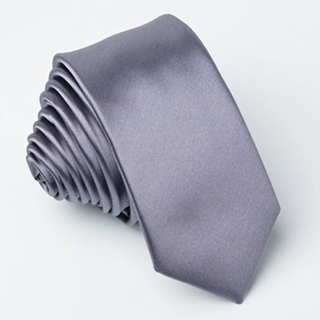 Holubí šeď kravata slim fit Greg 99119