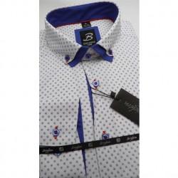 Bílá pánská košile dlouhý rukáv vypasovaný střih Brighton 109959 7d3019da18