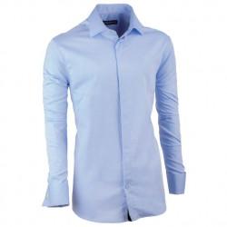 Košile na manžetový knoflíček slim fit blankytně modrá Assante 30421