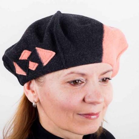 Oranžový dámský elegantní baret Tonak 87229