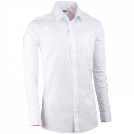 Bílá prodloužená slim fit pánská košile Aramgad 20000