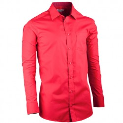 Červená prodloužená slim fit pánská košile Aramgad 20308
