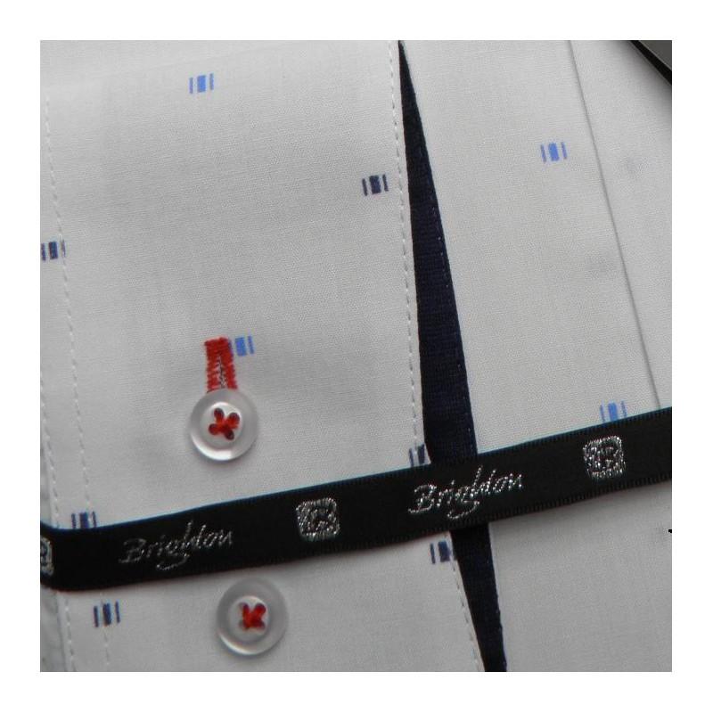 3896e5f92dcf Bílá pánská košile dlouhý rukáv s dvojitým límcem Brighton 109964