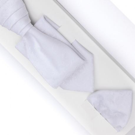 Svatební regata bílá - Anglická kravata Assante 90691