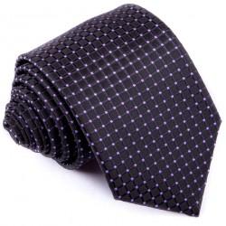 Černofialová luxusní kravata Greg 91200