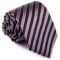 Černá pruhovaná kravata Greg 91201