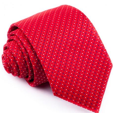 Červená kravata s puntíky Greg 93189