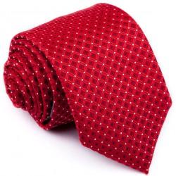 Červená kravata čtverečky Greg 93191