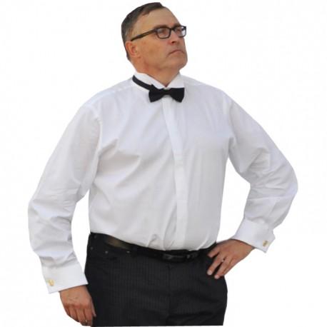 Frakovka nadměrná košile bílá 100 % bavlna non iron rovná Assante 31003