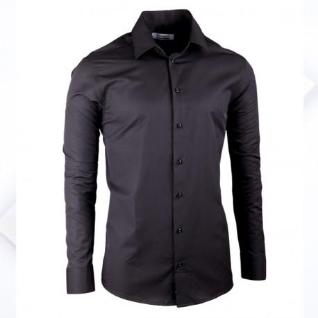 Černá elegantní košile vypasovaná slim fit Aramgad 30139