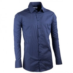 Tmavě modrá elegantní košile vypasovaná slim fit Aramgad 30432