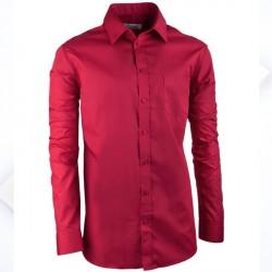 Bordó pánská košile slim fit s dlouhým rukávem Aramgad 30385
