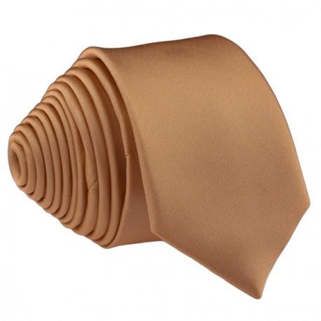 Hnědá kravata slim fit Romendik 99126