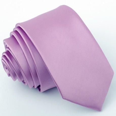 Slim fit fialová kravata lilková (tmavě fialová) Greg 99168