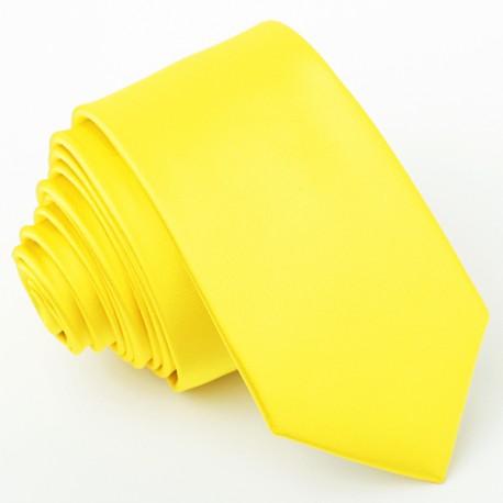 Žlutá slim fit kravata Greg 99184