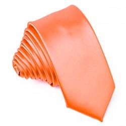 Oranžová slim fit kravata Greg 99179