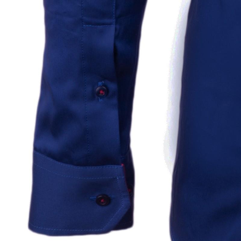 fde3ecf11db ... Kobaltově modrá pánská košile slim 100% bavlna non iron Assante 30487  ...