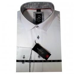 Bílá pánská košile dlouhý rukáv vypasovaný střih Brighton 109950 d42fad2807